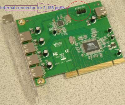 PCI Card with header for 2 internal USB ports, 7 port pci usb card,