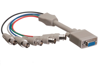 5 BNC Female to HD15 VGA Female Adapter Cable