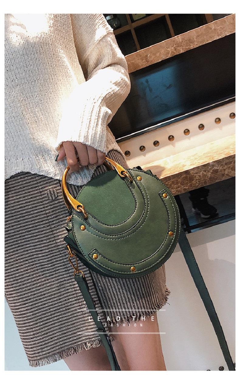 Round Crossbody Shoulder Bag, Elegant, fashionable yet practical handbag