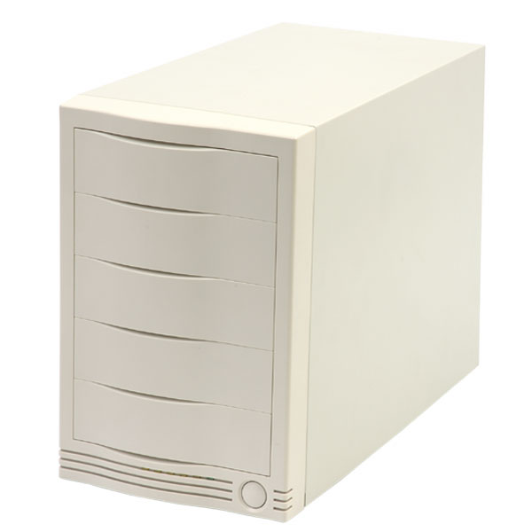 5 bay external case for scsi drives, ultra 320 68 pin