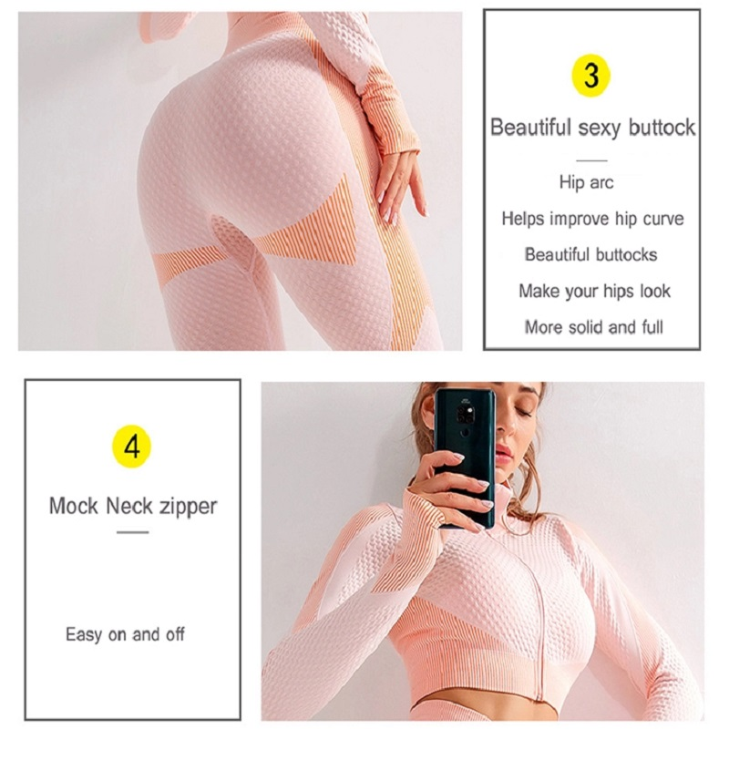 High Waist 3 piece activewear set, matching yoga pants, zip top, sports bra, stretchy, fit to form leggings, high rise, high waist,
