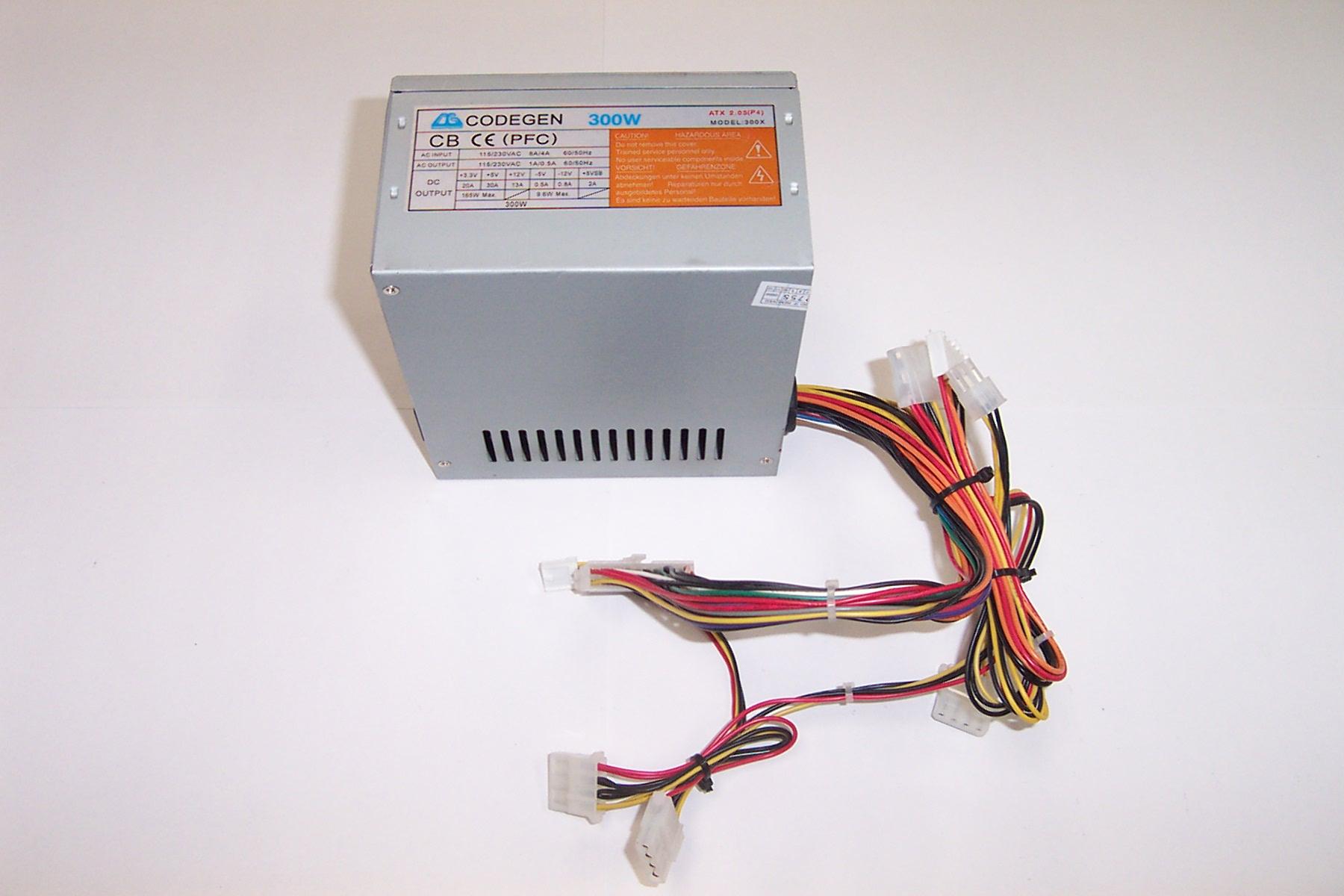 Codegen 300x Power Supply 300w Atx 2 Watt Switching
