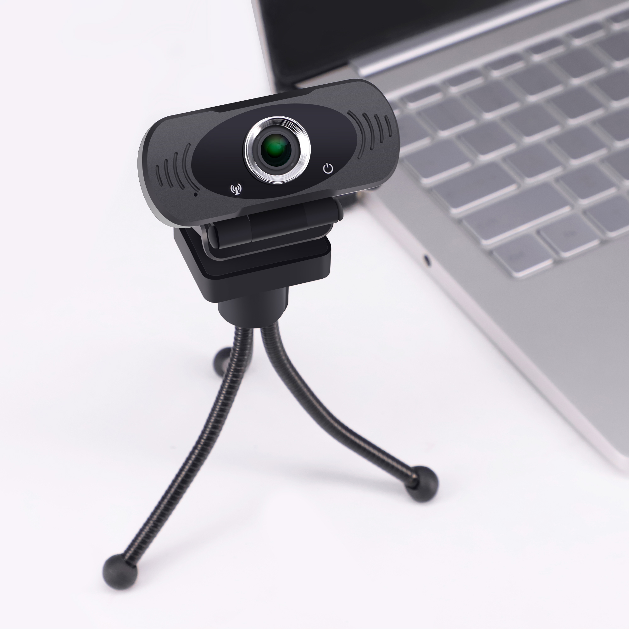 Full HD 1080P Webcam with privacy filter and tripod, Plug & Play USB WebCam 1080P HD with Microphone