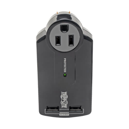 Tripp Lite SK120USB 3-Outlet Surge Protector with 2 USB charging ports
