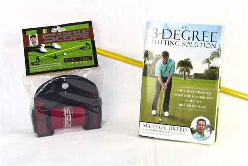 "Michael Breed Package ""The 3-Degree Putting Solution"" (Book & Scope)"