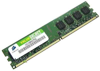 Corsair Memory � 1GB DDR2 Memory - VS1GB667D2