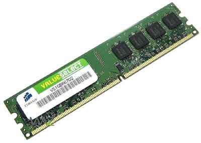 Corsair Memory — 1GB DDR2 Memory - VS1GB667D2