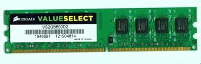 Corsair Memory — 2GB DDR2 Memory Corsair VS2GB800D2