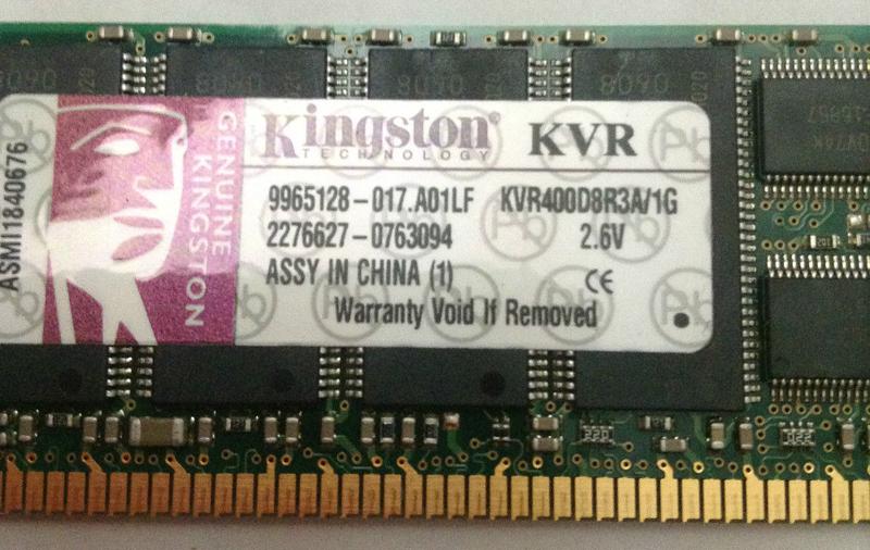 Kingston KVR400D8R3A/1G
