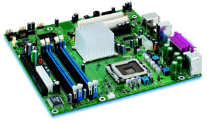 151427533bt07658, Intel  D915GUX Motherboard Socket 775,Pentium,Celeron D,915G Chipset,2 PCI, 2 PCI Express,DDR2,Onboard Audio,Video,Lan,IDE,SATA,Micro ATX, (GW)151427533bt07658