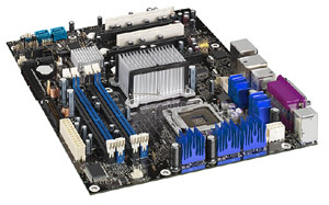 Socket�775, Intel Pentium 4, Intel 975 chipset,2 PCi, 2PCI Express,DDR2 X 4,Onboard Audio, Lan, USB,SATA,ATX