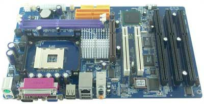 CPU + Motherboard combo kit, Pentium 4 socket 478 motherboard with 3 ISA slots, I845GV-3ISA. On-board audio, video and LAN