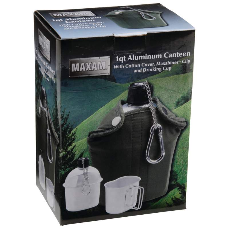 32oz Aluminum Canteen with Cover and Cup,camping,outdoors,hiking,