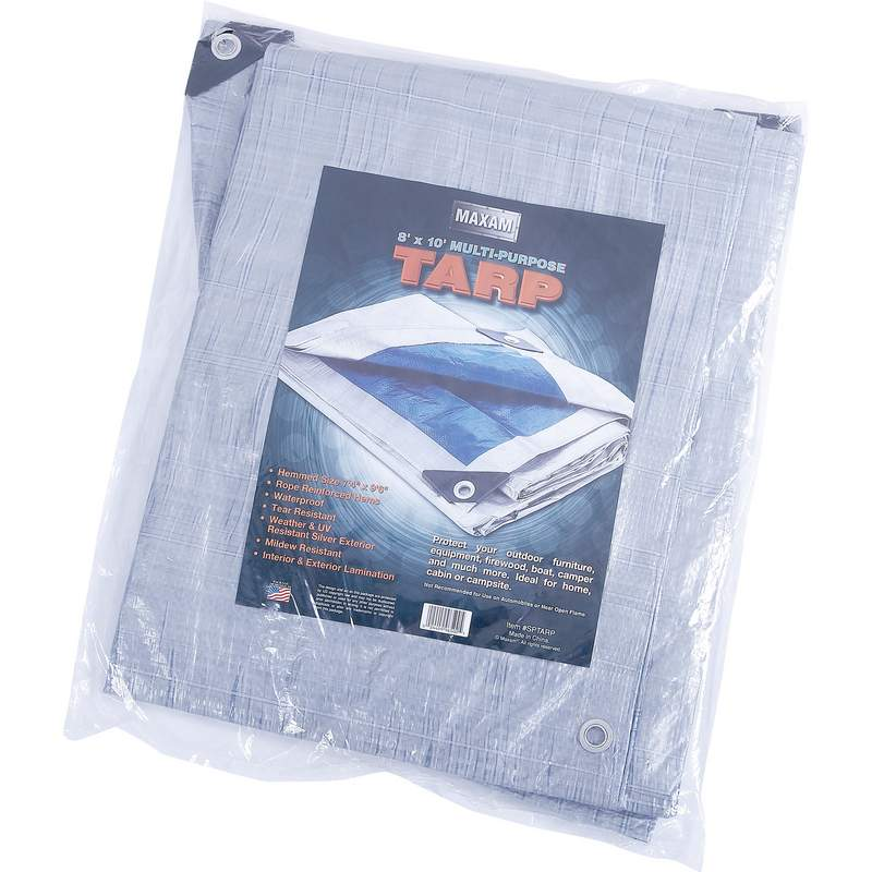Multipurpose tarp, heavy duty, blue and silver,tarp,
