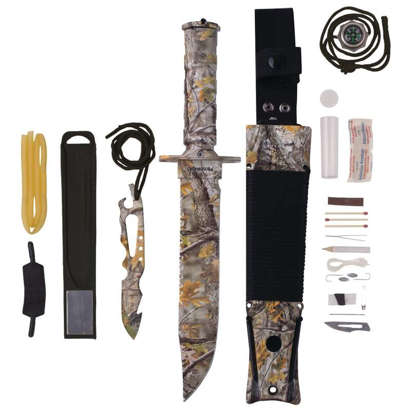 MOSSBERG Camo Survival Knife, Preppers Kit, Survival Kit