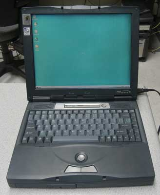 used laptop with windows 95,serial port,