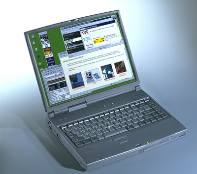 toshiba tecra 8000, refurbished laptop,windows 95,serial port,floppy drive,